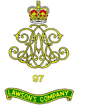 97 Battery (Lawson's Company) Royal Artillery - Image: 97 Battery RA Crest