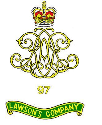 97 Battery (Lawson's Company) Royal Artillery - Image: 97 Battery RA Crest