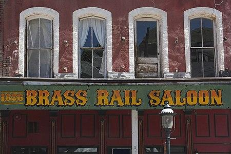 A350, Virginia City, Nevada, USA, Brass Rail Saloon, upper facade, 2011