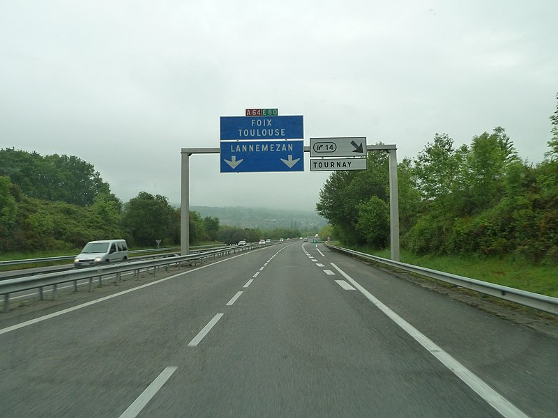 Autoroute A64, E80, France
