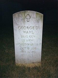 George Douglas Wahl American World War II Brigadier General