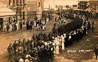 Anzac Day in Queensland - First Anzac Day parade in Brisbane, 25 April 1916