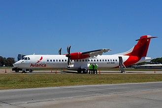 Avianca Argentina - ATR 72-600 Avianca Argentina - Jorge Newbery Airfield, Buenos Aires, Argentina.