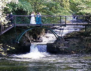 River Isla, Moray - Waterfalls on the River Isla near Keith