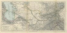 "Fold out map entitled ""Russian Central Asia and the Transcaspian Railway"""