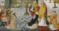 A Rainha Santa Isabel deposita a sua coroa aos pés do Arcebispo de Santiago de Compostela.png