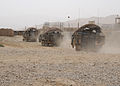 A column of U.S. Army Stryker armored vehicles departs from a coalition forward operating base near Shinkai district in Zabul province, Afghanistan, Aug. 27, 2012 120827-N-OH262-998.jpg