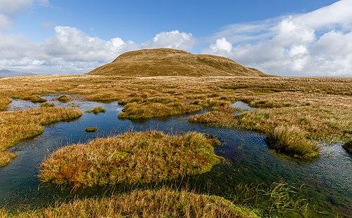 A peat bog below the top of Doune Hill, Luss Hills, Scotland.jpg