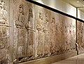 A procession of high-ranking Assyrian officials followed by tribute bearers from Urartu. From Khorsabad, Iraq. Iraq Museum.jpg