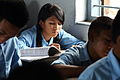 A student studies at Shree Dharmasthali Lower Secondary School, Pokhara, Nepal (10663892213).jpg