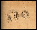 A weak woman in a state of exertion (left) and terror on the Wellcome V0009294.jpg