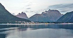 View of Åndalsnes in Rauma