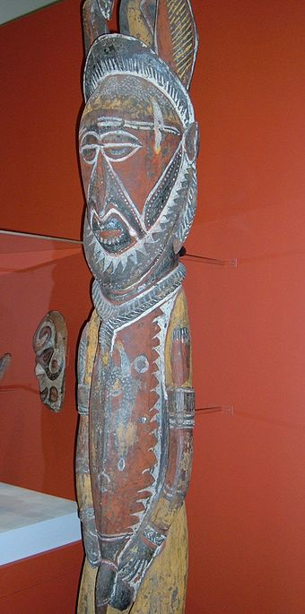 A 20th-century wooden Abelam ancestor figure (nggwalndu) Abelam wooden ancestor figure 2 CAC.JPG
