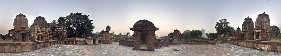 Panoramic View of Mukteshvara Temple, Bhubaneswar