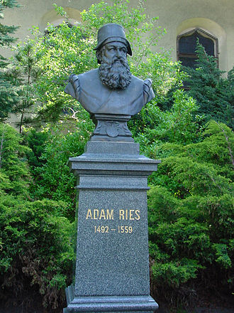 Adam Ries - Adam Ries monument at the St. Trinitatiskirche in Annaberg-Buchholz