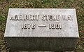 Adelbert Stone Hay granite marker 2 - Lake View Cemetery (39762459261).jpg