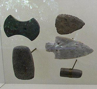 Serpent Mound - Gorgets and points from the Adena culture, found at Serpent Mound