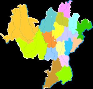 Liangshan Yi Autonomous Prefecture - Image: Administrative Division Liangshan