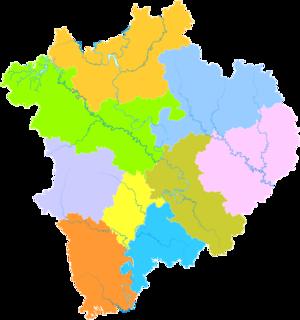 Nanchong - Image: Administrative Division Nanchong