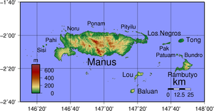 Baluan Island - Image: Admiralty Islands Topography with labels