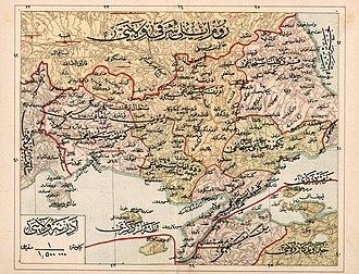 Adrianople Vilayet - Image: Adrianople Vilayet — Memalik i Mahruse i Shahane ye Mahsus Mukemmel ve Mufassal Atlas (1907)