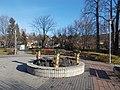 Advent candles, Bánffy György Memorial Park, 2017 Hűvösvölgy.jpg