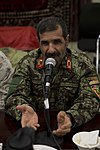 Afghan National Army Maj. Gen. Sayed Malook, the commanding general of the 215th Corps, speaks during a friendship dinner at the Afghan Cultural Center at Camp Leatherneck in Helmand province, Afghanistan 130725-M-RF397-295.jpg