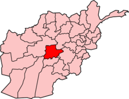 Map of Afghanistan with Day Kundi highlighted
