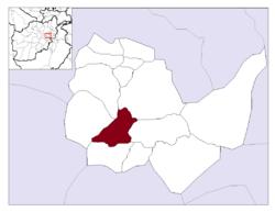 Vị trí của Kabul