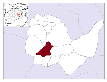 Location of Kabul Municipality within Kabul Province Afghanistan Kabul Province Kabul District.png