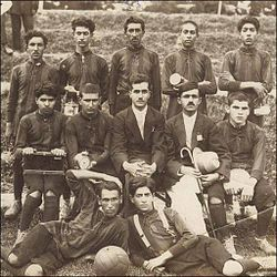 Afghanistan national football team in 1920s - in Kabul, Afghanistan.jpg