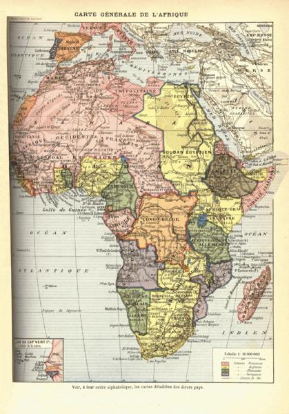 Mapa colonial de Africa