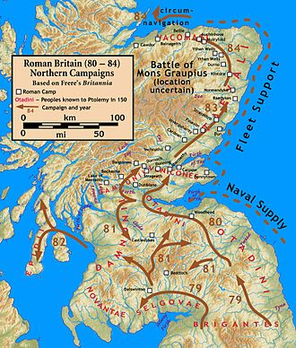 Roman conquest of Britain - Northern campaigns.