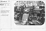 Airplanes - Manufacturing Plants - Manufacturing Curtiss OX-5 Airplane Engines at the Willys-Morrow Co. Plant, Elmira, New York. Magneto drive pinion gear generating teeth - NARA - 17339452.jpg