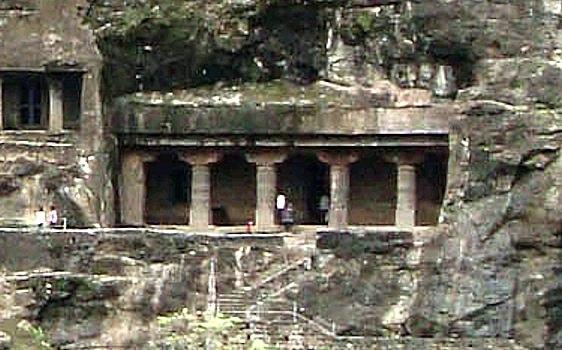 Ajanta Cave 21 outside view