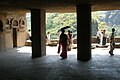 Ajanta Caves, India, The front courtyard of the ancient Buddhist monastery.jpg