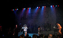 Alabama 3, or A3, playing live at the London Astoria on 7 October 2007