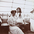 Alexandra Fyodorovna and Maria Nikolaevna aboard the Standart.jpg