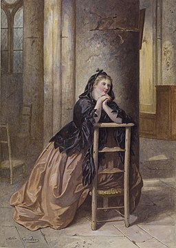 Alexandre Couder - Woman Kneeling in Prayer - Walters 371369
