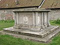 All Saints church - tomb chests in churchyard - geograph.org.uk - 1547787.jpg