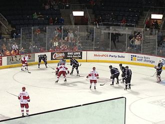 Allen Americans - The Fort Worth Brahmas vs. the Americans at the Allen Event Center on January 11, 2013.
