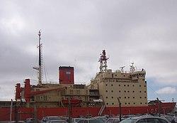 ARA Almirante Irízar, docked in Puerto de la Ciudad, Buenos Aires, Argentina.