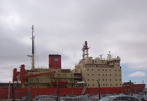 ARA Almirante Irízar (Q-5) - ARA Almirante Irízar locked at her homeport in Buenos Aires, Argentina.