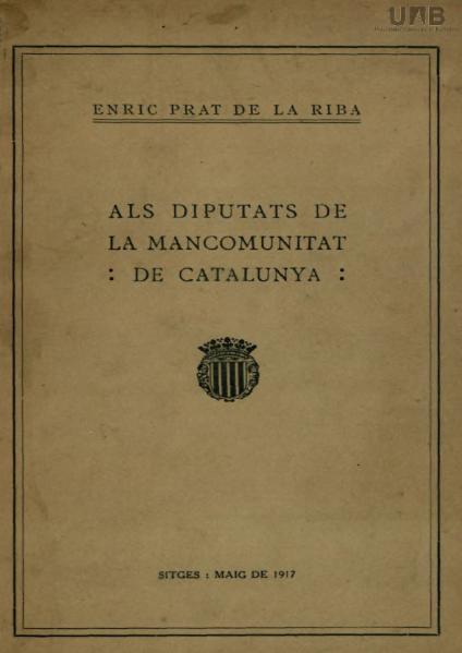 File:Als diputats de la Mancomunitat de Catalunya.djvu