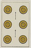 Aluette card deck - Grimaud - 1858-1890 - Six of Coins.jpg