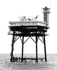Original Ambrose Light Station, a Texas Tower built in 1967.