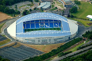 Falmer Stadium - An aerial photograph of the stadium, 2011.