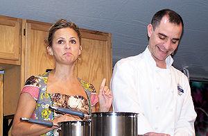 Amy Sedaris - Sedaris making brownies at the 2006 Texas Book Festival.