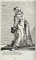 An old woman wearing a ragged coat leans against the stump o Wellcome V0020387.jpg