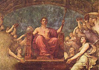 Si vis pacem, para bellum - Apotheosis of Napoleon, Andrea Appiani, 1807.